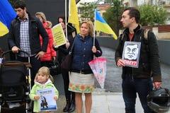Ukrainer in der Zypern-Showsolidarität Lizenzfreies Stockfoto