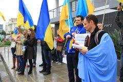 Ukrainer in der Zypern-Showsolidarität Stockfoto