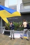 Ukrainer in der Zypern-Showsolidarität Lizenzfreies Stockbild