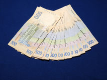 Ukrainer Hryvnia Stockfoto