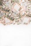 500 Ukrainer hryvnia Hintergrund mit Raum für Text Stockfotos