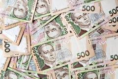 500 Ukrainer hryvnia Körperhintergrund Lizenzfreies Stockfoto