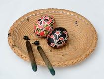 Ukrainer-Ostereier mit Griffeln Lizenzfreies Stockbild