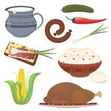Ukrainfood 免版税图库摄影