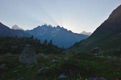 ukrainian гор рассвета carpathians принятый изображением был Стоковая Фотография RF