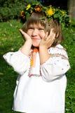 девушки ukrainian довольно Стоковые Изображения RF