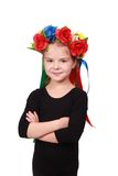 Ukrainian adorable kid with pretty smile Royalty Free Stock Images
