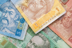 Ukrainian bank notes Stock Photos