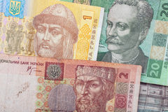 Ukrainian bank notes Stock Images