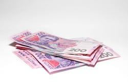 Ukrainian banknotes. Background close-up Royalty Free Stock Photos