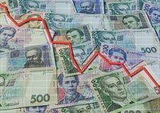 Ukrainian banknotes background Stock Photos