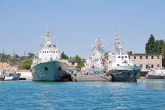 Ukrainian battle ships Royalty Free Stock Images