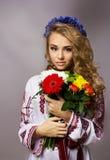 Ukrainian beautiful girl in costume Stock Images