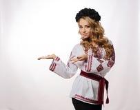 Ukrainian beautiful girl in costume Royalty Free Stock Photos