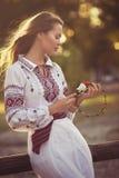 Ukrainian beautiful girl Royalty Free Stock Photos