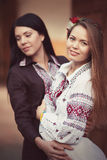 Ukrainian beautiful girls Stock Photos