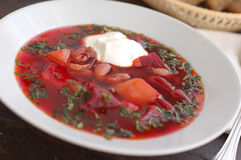 Ukrainian beetroot soup Stock Photography