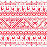 Ukrainian, Belarusian red embroidery seamless pattern - Vyshyvanka Royalty Free Stock Photo