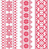 Ukrainian, Belarusian red embroidery seamless pattern - Vyshyvanka Royalty Free Stock Image