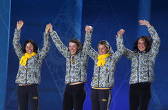 Ukrainian biathlon team Stock Photos