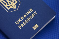 Ukrainian biometric passport Stock Images