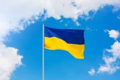 Ukrainian blue and yellow flag Royalty Free Stock Photography