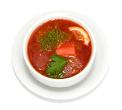 The Ukrainian borsch Royalty Free Stock Photo