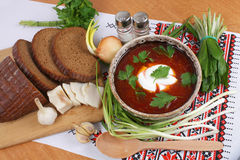 Ukrainian borsch Stock Photos