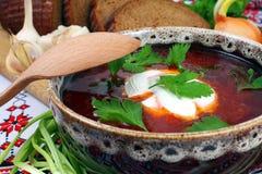 Ukrainian borsch. Of national kitchen stock photography