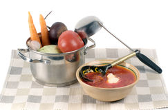 Ukrainian borsch Stock Photo