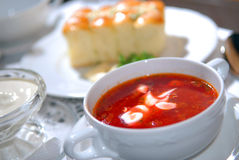 The Ukrainian borsch Stock Image