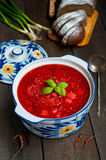 Ukrainian borsch with beets Royalty Free Stock Photo