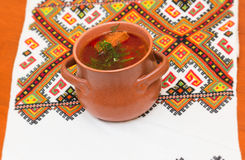 Ukrainian borsch Royalty Free Stock Images