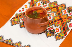 Ukrainian borsch Royalty Free Stock Photography