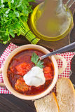 Ukrainian borscht Royalty Free Stock Photography