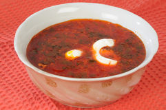 Ukrainian borshch stock photo