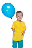 Ukrainian boy with balloon Royalty Free Stock Image