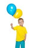 Ukrainian boy with balloons Stock Photos