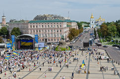 Ukrainian capital at the Independence Day Royalty Free Stock Photo