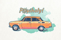 Ukrainian car royalty free stock photography