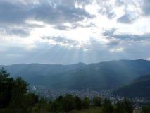 Ukrainian Carpathians before the downpour. Stock Photography