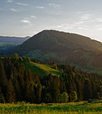 Ukrainian Carpathians. Evening mountains Royalty Free Stock Photography