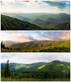 Ukrainian Carpathians. View from Mount Serednya Stock Photo