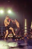 Ukrainian championship MIX FIGHT 2011. SEVASTOPOL, UKRAINE - 03 April: Bazhenov VS Gutosckij on Ukrainian championship MIX FIGHT, April 03, 2011 in Sevastopol Stock Photography