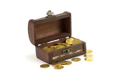 Ukrainian chest with money treasure Royalty Free Stock Photos