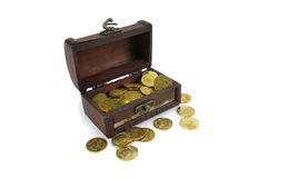 Ukrainian chest with money treasure Stock Photography
