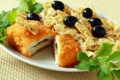 The Ukrainian chicken chop kiev Stock Image