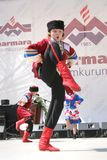 Ukrainian child. ISTANBUL - APRIL 23: Unidentified 12 years old Ukrainian children in traditional costume perform folk dance during National Sovereignty and Stock Image