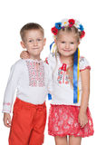 Ukrainian children in national dress Royalty Free Stock Photos