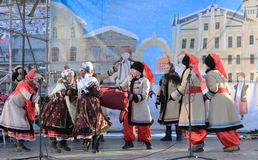Ukrainian Christmas carols. Photo Ukrainian folk dance group. Christmas holidays stock photos